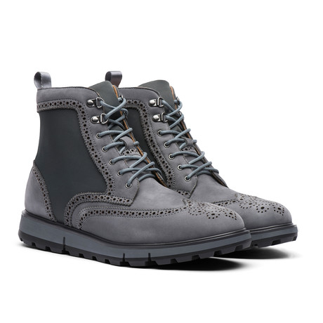 Motion Wing Tip Boot // Gray + Black (US: 7)