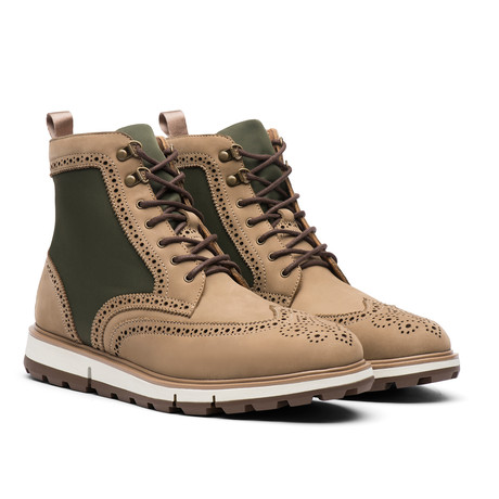Motion Wing Tip Boot // Gaucho + Olive (US: 7)