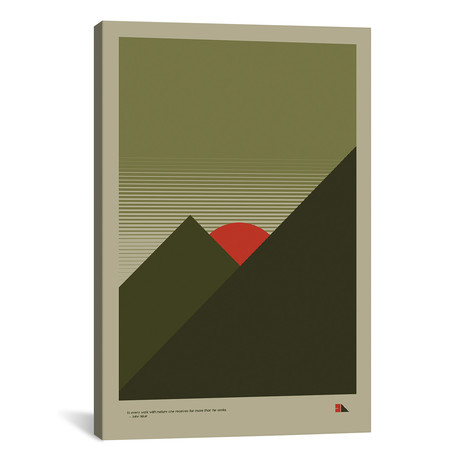 "Mountains // 2046 Design (18""W x 26""H x 0.75""D)"