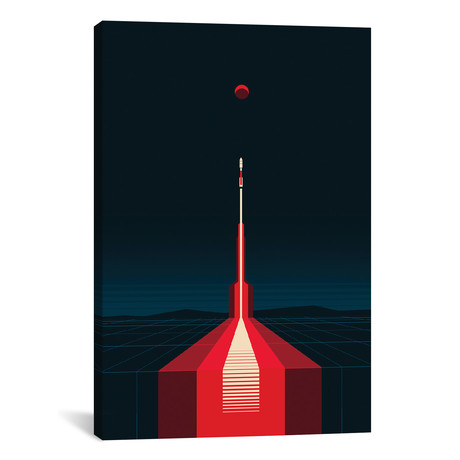 "Lift Off // 2046 Design (18""W x 26""H x 0.75""D)"