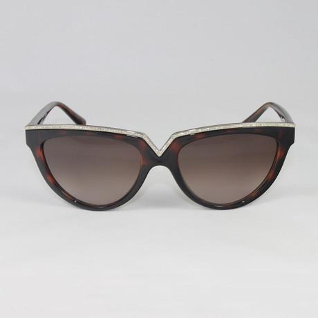 Valentino Women's V647SR Sunglasses // Dark Havana + Stones