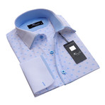 Reversible Cuff French Cuff Shirt // White + Light Blue (2XL)