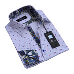 Reversible Cuff French Cuff Shirt // White + Grey + Colorful Paisley (3XL)