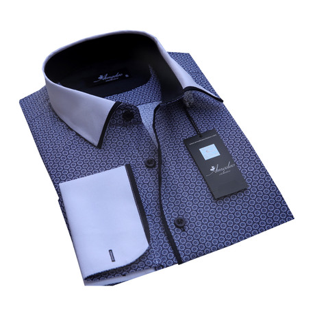 Reversible Cuff French Cuff Shirt // Dark Blue (S)