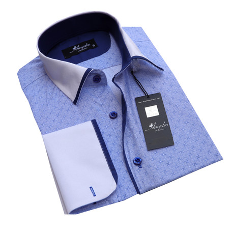 Reversible Cuff French Cuff Shirt // Light Blue (S)