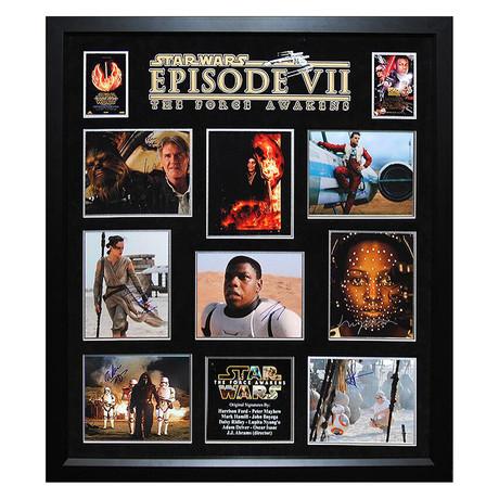 Signed + Framed Collage // Star Wars Episode VII: The Force Awakens