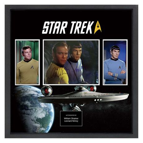 Signed + Framed Collage // Star Trek
