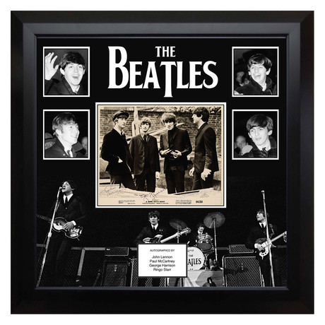 Signed + Framed Collage // The Beatles