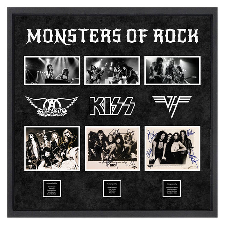Signed + Framed Collage // Monsters Of Rock