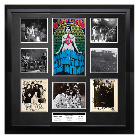 Signed + Framed Collage // Montrey Pop Fest