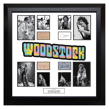 Signed + Framed Signature Collage // Woodstock