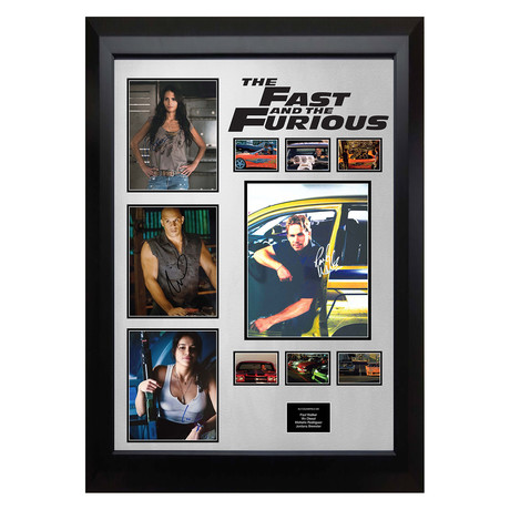 Signed + Framed Collage // Fast & The Furious