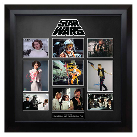 Signed + Framed Collage // Star Wars
