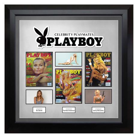 Signed + Framed Magazine Collage // Playboy