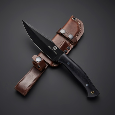 D2 // Large Black Powder Coat Skinning Knife