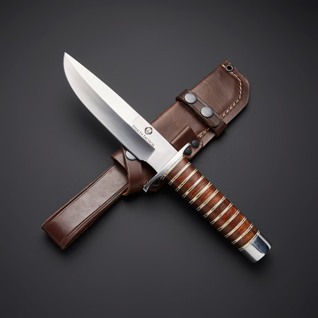 D2 // Full Tang Walnut Hunter Bowie Knife