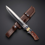 D2 // Camel Bone Large Sub Hilt Hunting Knife