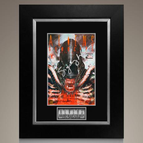 Aliens Genocide #1 1991 // Sigourney Weaver & Arthur Suydam Signed Comic // Custom Frame (Signed Comic Book Only)