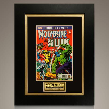 Wolverine Vs Hulk #1 // Stan Lee Signed Comic // Custom Frame (Signed Comic Book Only)