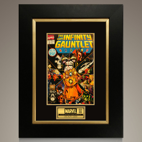 Infinity Gauntlet #1 1991 // Stan Lee Signed Comic // Custom Frame (Signed Comic Book Only)