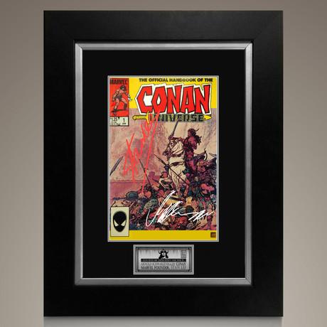 Conan Universe #1 1986 // Stan Lee + Arnold Schwarzenegger Signed Comic // Custom Frame (Signed Comic Book Only)