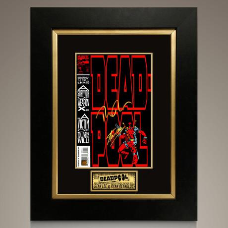 Deadpool #1 1993 // Stan Lee + Ryan Reynolds Signed Comic // Custom Frame (Signed Comic Book Only)