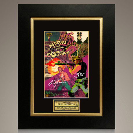 Big Trouble in Little China - Escape From New York #1 // Kurt Russell + John Carpenter + Greg Pak Signed Comic Signed Comic // Custom Frame (Signed Comic Book Only)