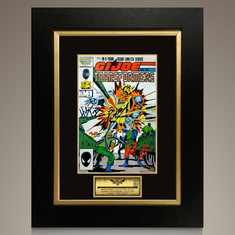 Bumblebee G.I. Joe & The Transformers #1 1987 // Michael Bay + Stan Lee + Herb Trimpe Signed Comic // Custom Frame (Signed Comic Book Only)