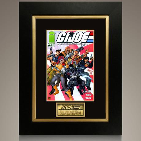 G.I. Joe A Real American Hero #1 2001 // Stan Lee + Bruce Willis+ The Rock + Channing Tatum Signed Comic // Custom Frame (Signed Comic Book Only)