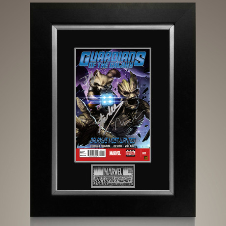 Galaxy's Most Wanted #1 // Bradley Cooper + Vin Diesel + Stan Lee Signed Comic // Custom Frame (Signed Comic Book Only)