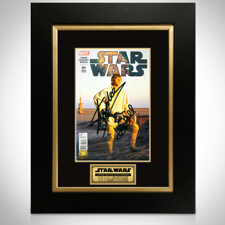 Star Wars #1 // Mark Hamill + Stan Lee Signed Comic // Custom Frame (Signed Comic Book Only)