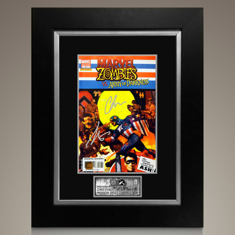 Marvel Zombies Vs. Army of Darkness #1 2007 // Chris Evans + Bruce Campbell Signed Comic // Custom Frame (Signed Comic Book Only)