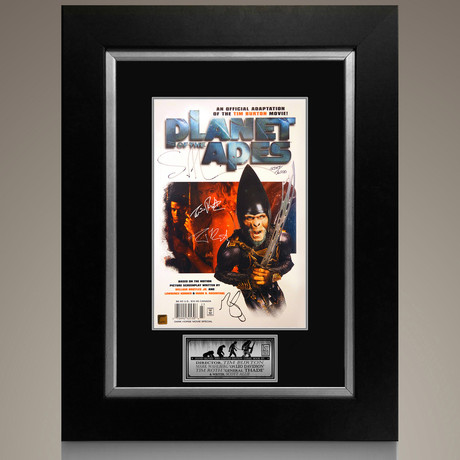 Planet of the Apes #1 2001 // Tim Burton + Mark Wahlberg + Tim Roth + Scott Allie Signed Comic // Custom Frame (Signed Comic Book Only)