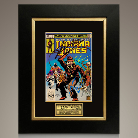Indiana Jones - The Further Adventures of Indiana Jones #1 1982 // Harrison Ford + George Lucas + Stan Lee Signed Comic // Custom Frame (Signed Comic Book Only)