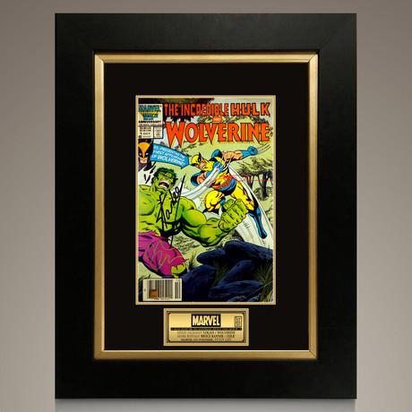 The Incredible Hulk & Wolverine #1 1986 // Stan Lee + Hugh Jackman + Mark Ruffalo Signed Comic // Custom Frame (Signed Comic Book Only)