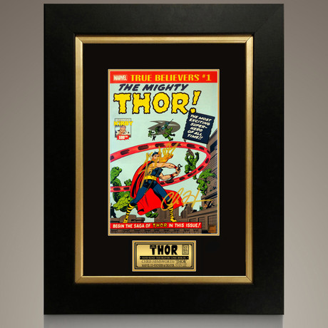 Thor - True Believers The Mighty Thor #1 // Stan Lee + Chris Hemsworth Signed Comic // Custom Frame (Signed Comic Book Only)
