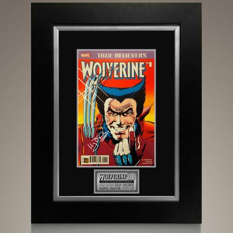 Wolverine #1 True Believers // Hugh Jackman + Stan Lee Signed Comic // Custom Frame (Signed Comic Book Only)