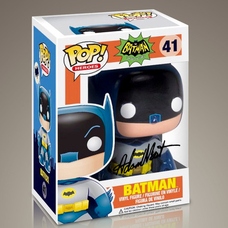 Batman // Adam West Signed Pop