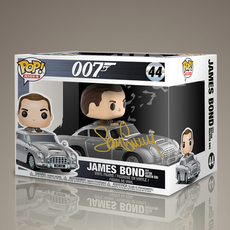 James Bond in Aston Martin // Sean Connery Signed Pop Rides
