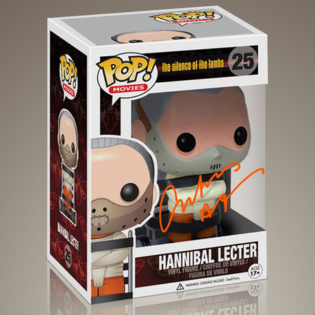 Silence of the Lambs Hannibal Lecter // Anthony Hopkins Signed Pop