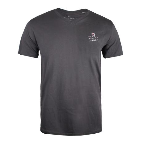 Core Logo V Neck T-Shirt // Anthracite (XS)