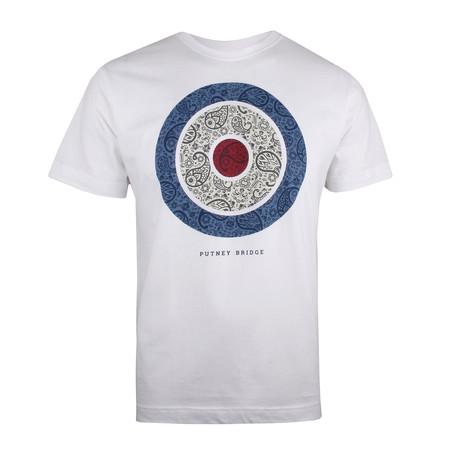 Paisley Target T-Shirt // White (XS)