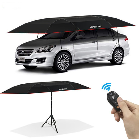 Lanmodo Automatic Car Tent With Stand + Remote Control (Silver // Small)