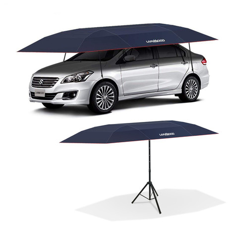 Semi-Automatic Car Tent With Stand (Black // Small)