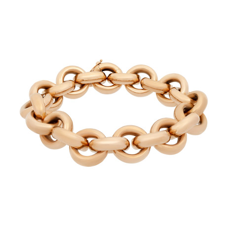 Bucherer 18k Rose Gold Large Round Link Bracelet