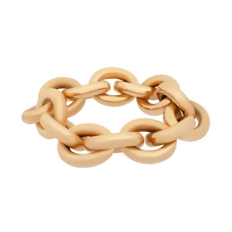 Bucherer 18k Rose Gold Round Link Bracelet