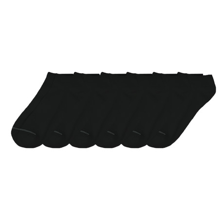 Supersoft Low Cut Sock // Black // Pack of 6