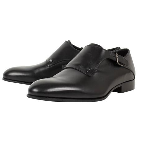 Valentino // Rockstud Monkstrap Leather Dress Shoes // Black (US: 10)