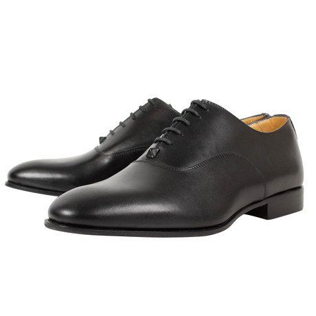 Valentino // Lace Up Leather Dress Shoes // Black (US: 6)