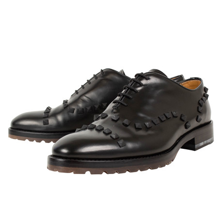 Valentino // Rockstud Lace Up Wholecut Leather Dress Shoes // Black (US: 10)